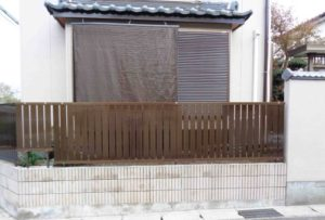 生垣を目隠しフェンスにリフォーム 千葉市若葉区
